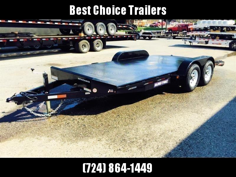 2018 Sure-Trac 7x18 Steel Deck Car Hauler 7000# Race Trailer LOW LOAD ANGLE * CLEARANCE - FREE ALUMINUM WHEELS