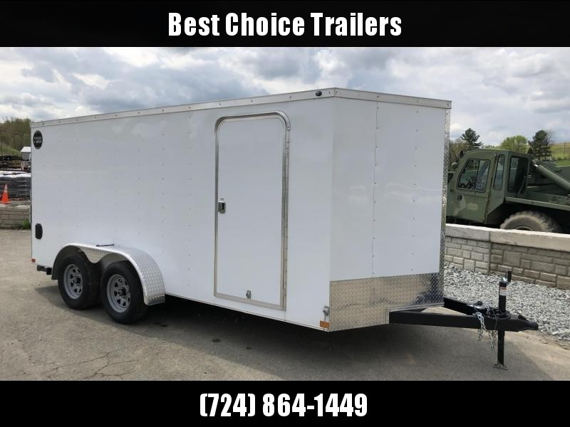 2018 Wells Cargo 7x16' VG300 Enclosed Cargo Trailer 7000# GVW * WHITE * CLEARANCE - FREE ALUMNIUM WHEELS