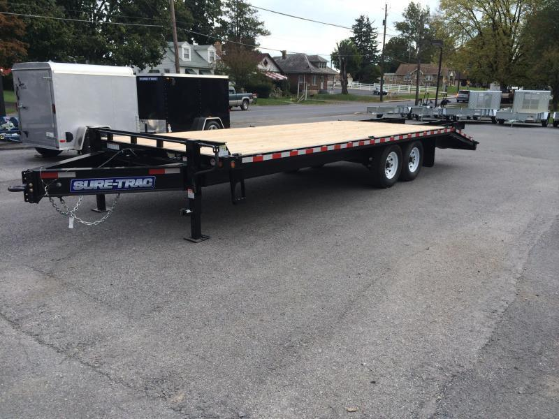 2017 Sure-Trac 102x20+5 15K Beavertail Deckover Trailer DUAL JACKS