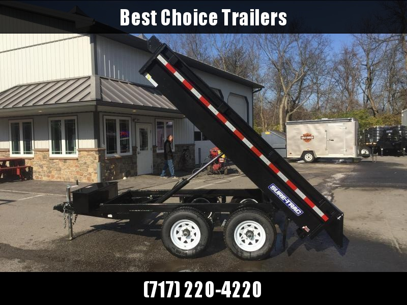 2018 Sure-Trac 6x10' SD Deckover Dump Trailer 7000# GVW * CLEARANCE - FREE ALUMINUM WHEELS