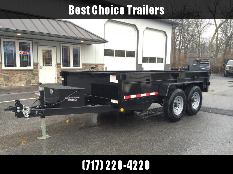 2018 QSA 7x12' Dual Ram Low Profile Dump Trailer 12000# GVW * CLEARANCE - FREE ALUMINUM WHEELS