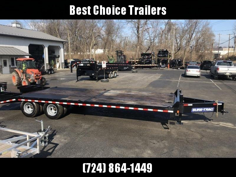 2020 Sure-Trac 102x20+5' HD LowPro Beavertail Deckover 22500# GVW * OAK BEAVERTAIL/OAK DECK/OAK RAMPS * PAVER SPECIAL