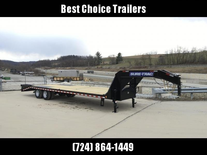2018 Sure-Trac 102x25+5 22K Beavertail Deckover Trailer Pierced Frame