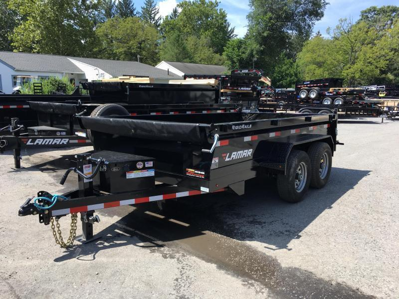 2018 Lamar DM 77x12' 9990# Low Profile Dump Trailer 12K JACK TARP KIT ADJUSTABLE COUPLER