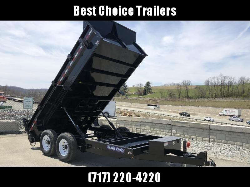 2019 Sure-Trac 7x14' LowPro HD Dump Trailer 14000# GVW * TARP KIT * SPARE TIRE