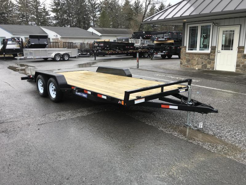 2018 Sure-Trac CHW 7x18 7000# Wood Deck Car Hauler