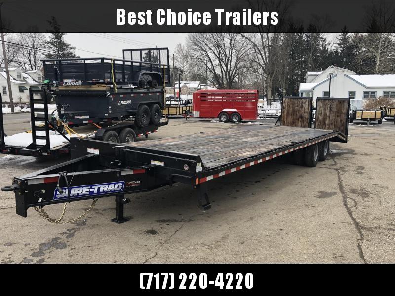 USED 2019 Sure-Trac 102x25+5 22K Pintle Beavertail Deckover Trailer Pierced Frame OAK DECK & RAMPS PAVER TRAILER  * OAK RAMPS/TAIL/DECK * FULL WIDTH RAMPS
