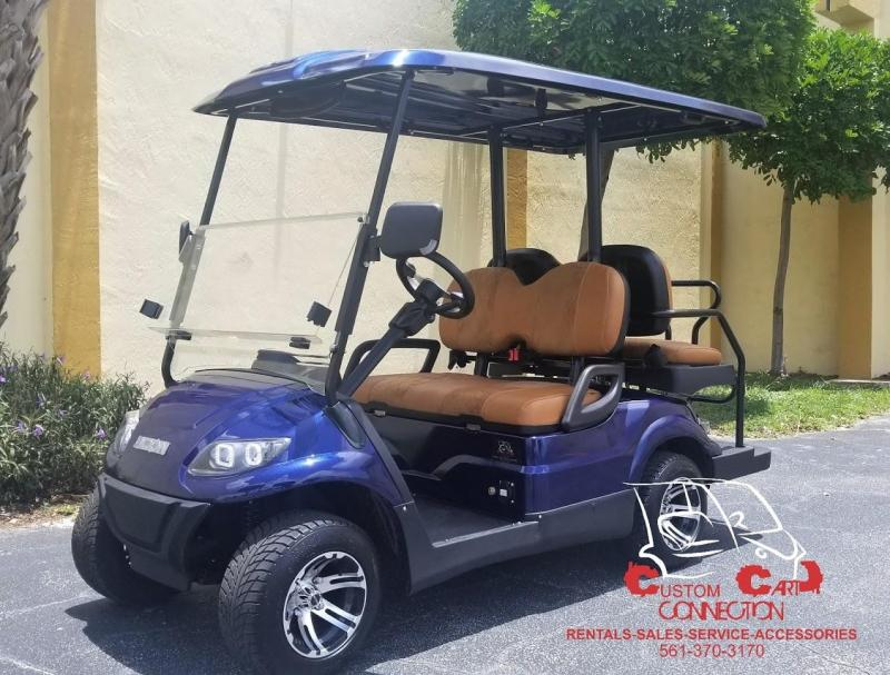 2019 ICON i40 Indigo Blue Golf Cart with Custom Seats