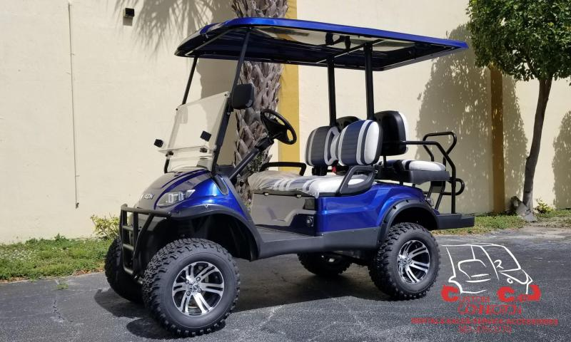 2019 ICON i40L Indigo Blue Golf Cart Electric Vehicle
