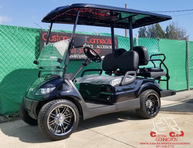 "2019 ICON Raven Black i40 Golf Cart w/14""Laguna Rims & Tires"