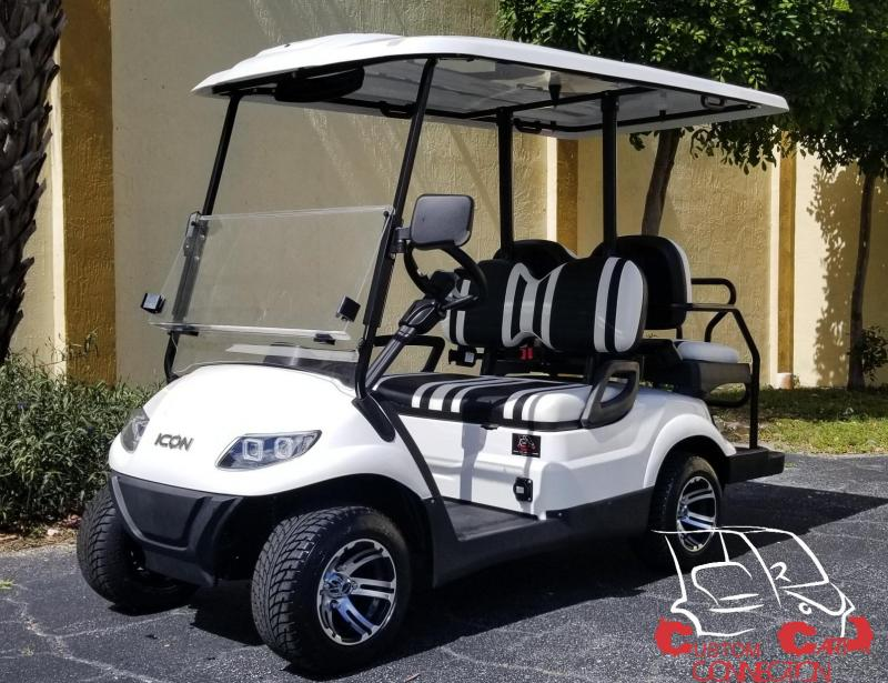 2019 ICON i40 Alpine White Golf Cart Electric Vehicle
