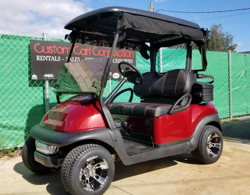 2016 Burgundy Club Car Precedent Golf Cart