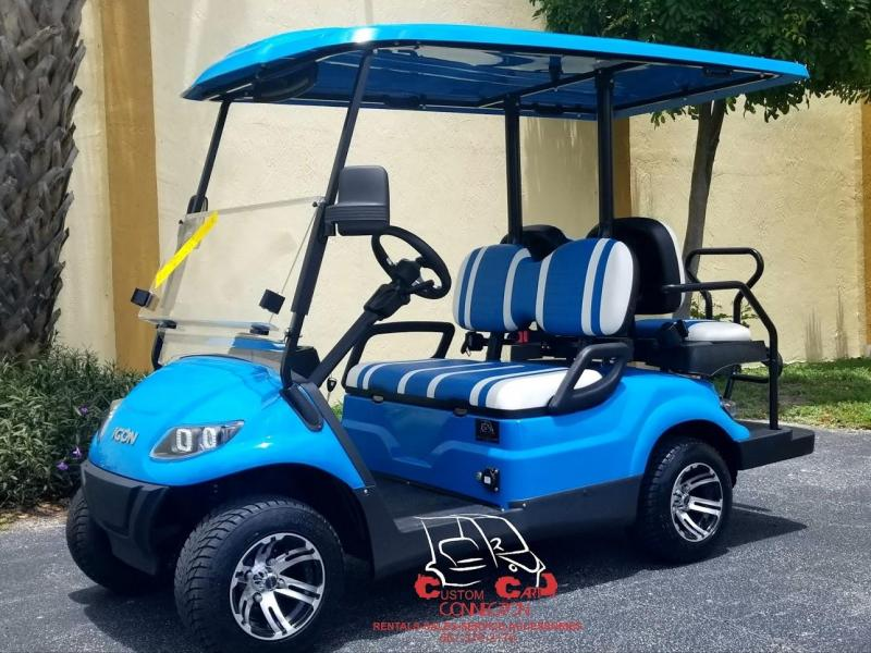 2019 ICON i40 Caribbean Blue Golf Cart