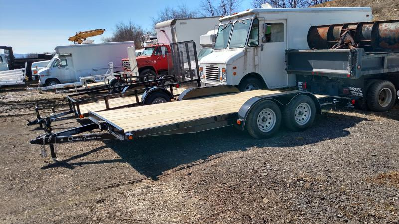 NEW 2019 Quality 16'  Econo Wood Deck Car Hauler