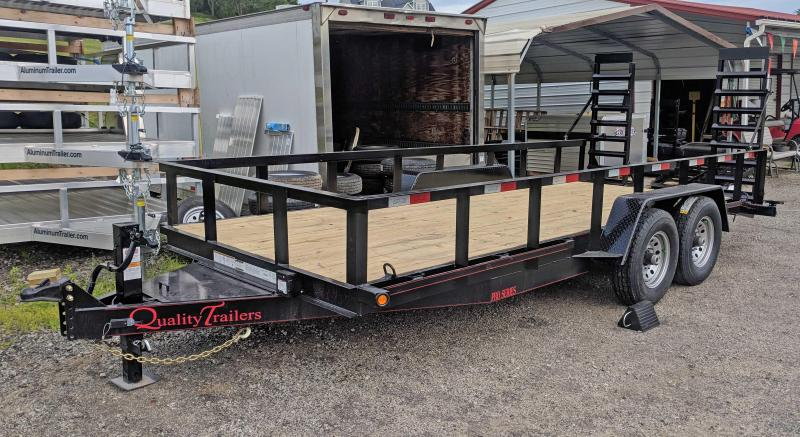 NEW 2019 Quality 18' PRO Equipment Hauler w/ Spring Assist Stand Up Ramps