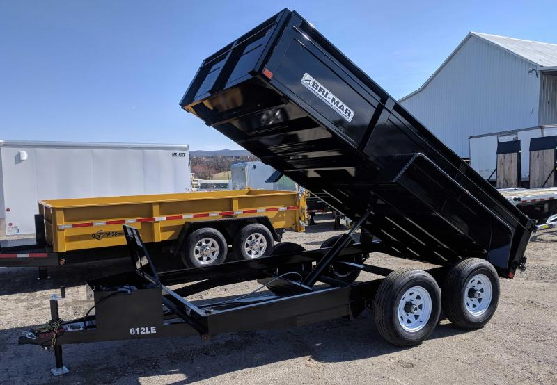 NEW 2019 Bri-Mar 6x12 Lo Pro Equipment Dump w/ Underbody Ramps