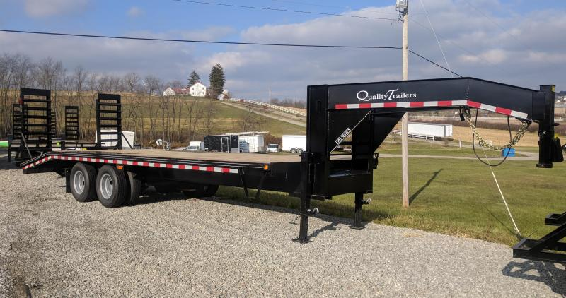 NEW 2020 Quality 25+5 HD PRO Deckover Gooseneck w/ Stand Up Ramps