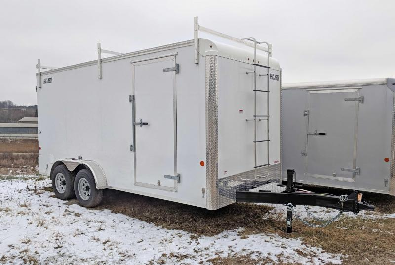 "NEW 2019 Car Mate 7X16 HD ""CONTRACTOR"" Cargo w/ Barn Doors & 12"" Additional Height"