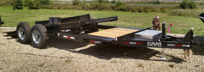 NEW 2018 Cam Superline 21' (5+16) Lo Pro X-Wide Split Tilt Trailer