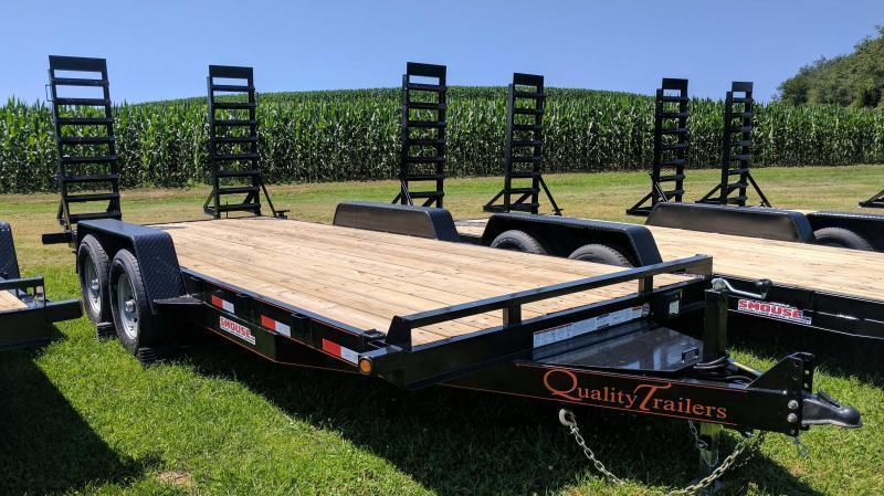 NEW 2019 Quality 20' HD General Duty Equipment Trailer w/Stand Up Ramps (14K)