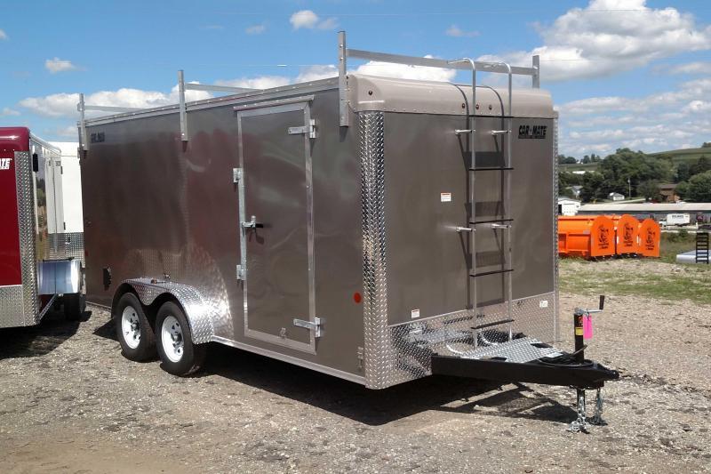 NEW 2019 Car Mate 7x18 HD Custom Contractor Trailer w/ Rear Barn Doors