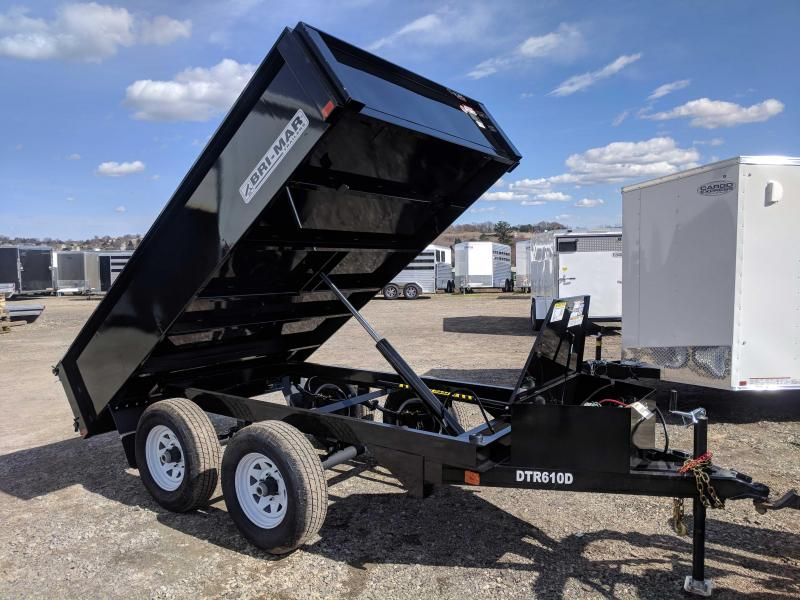 NEW 2018 Bri-Mar 6X10 Lo Pro Dump Trailer