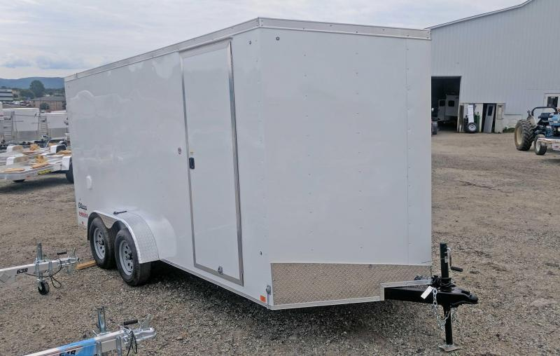 "NEW 2019 Cargo Express 7X16 EX DLX V-Nose Cargo Trailer w/ Ramp Door & 12"" Additional Height"