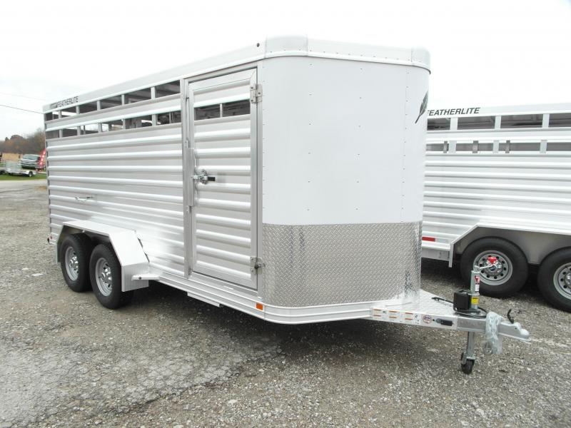 NEW 2016 Featherlite 16' Aluminum Bumper Pull Stock Trailer