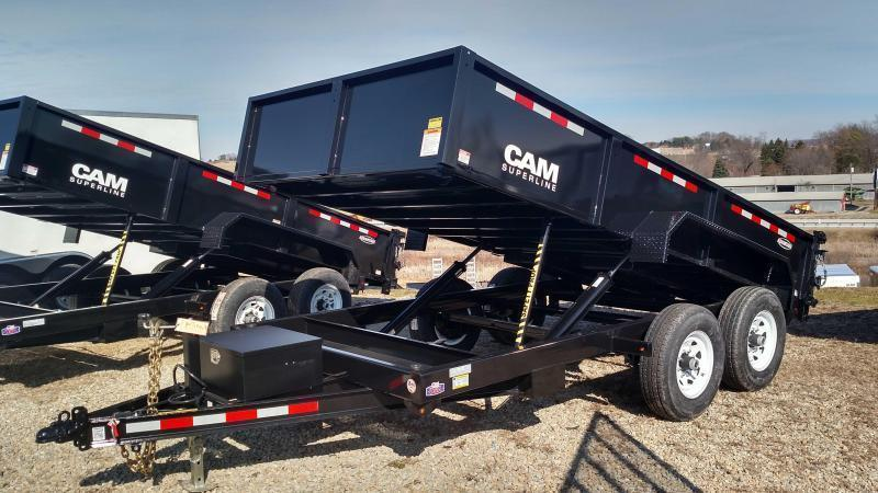 "NEW 2019 CAM ""Advantage"" 6'8"" x 12 Lo Pro Equipment Dump Trailer"
