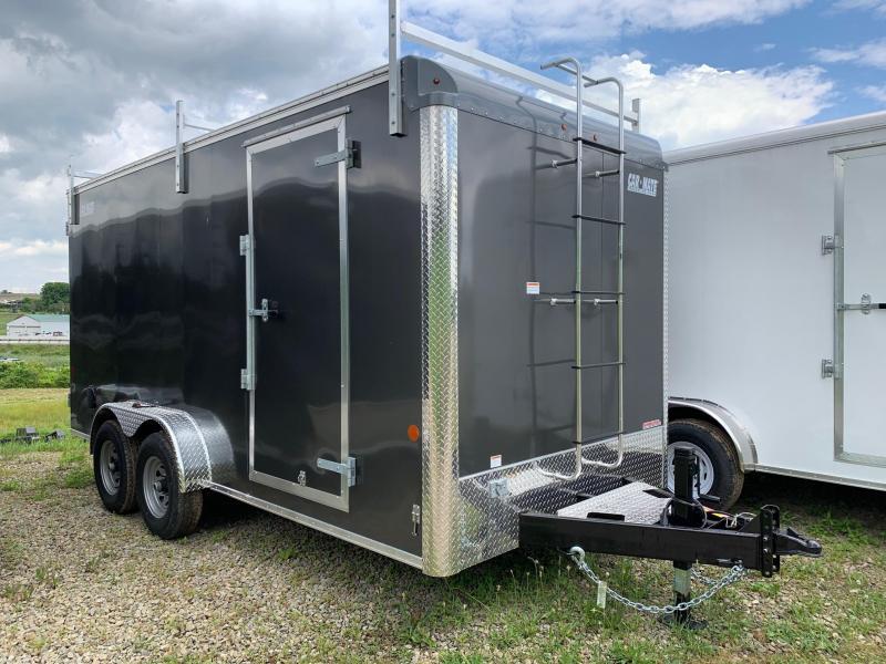 NEW 2019 Car Mate 7x16 HD Contractor Cargo Trailer w/ Barn Doors
