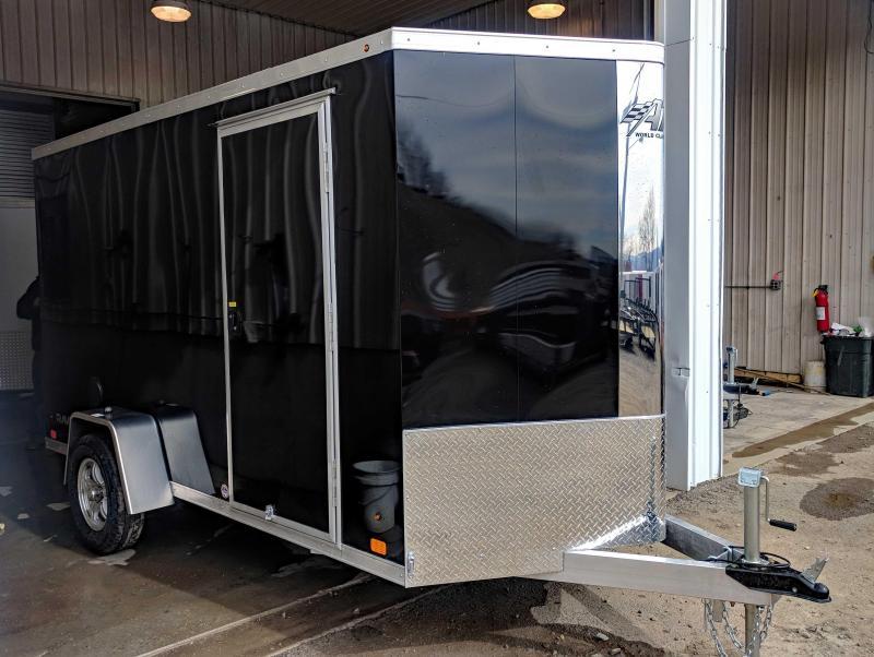 "NEW 2018 ATC 6X12 ""RAVEN"" V-Nose Aluminum Cargo Trailer w/ Ramp"