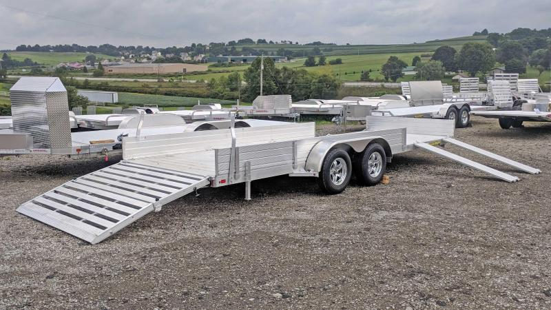 "NEW 2020 Aluma 6'9"" x 20' SR Utility w/ Side Ramps - Solid Rear & BiFold Gate"