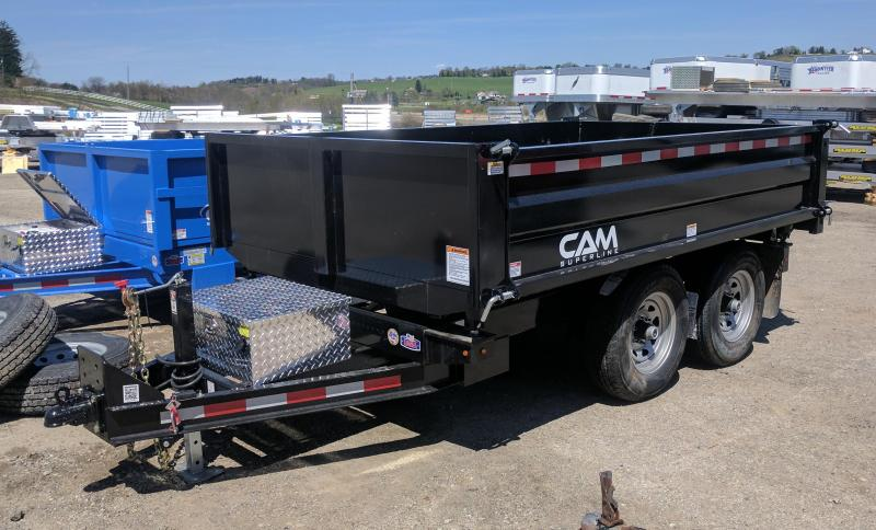 "NEW 2019 CAM 6x10 "" 3 WAY"" Deckover Dump Trailer"
