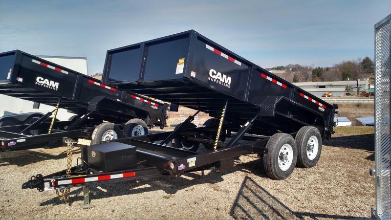 "NEW 2019 CAM ""Advantage"" 6'8""x14' HD Lo Pro Equipment Dump"