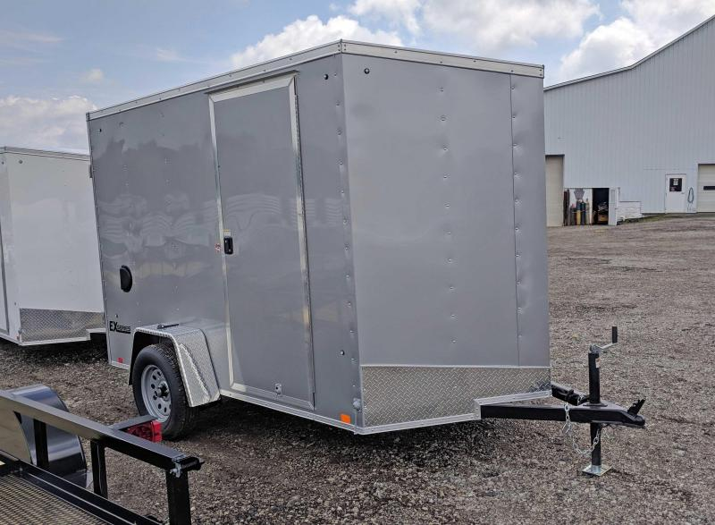 NEW 2019 CARGO EXPRESS 6X10 EX DLX SLOPED V NOSE CARGO TRAILER W/ RAMP