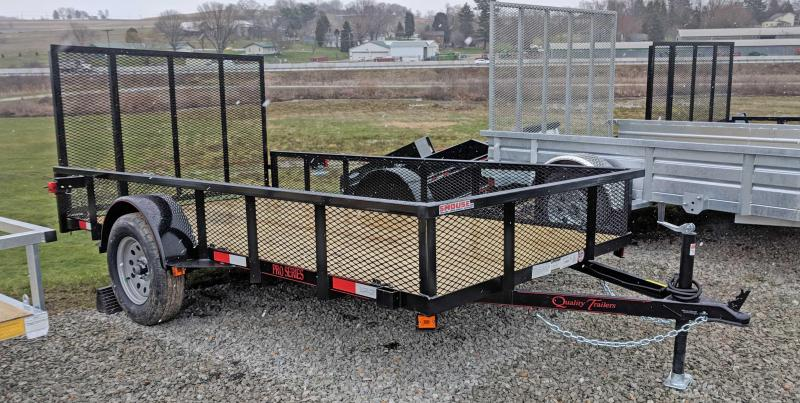 NEW 2018 Quality 6X12 PRO Utility Trailer w/ Mesh Sides & Spring Assist/ Lay Flat Gate