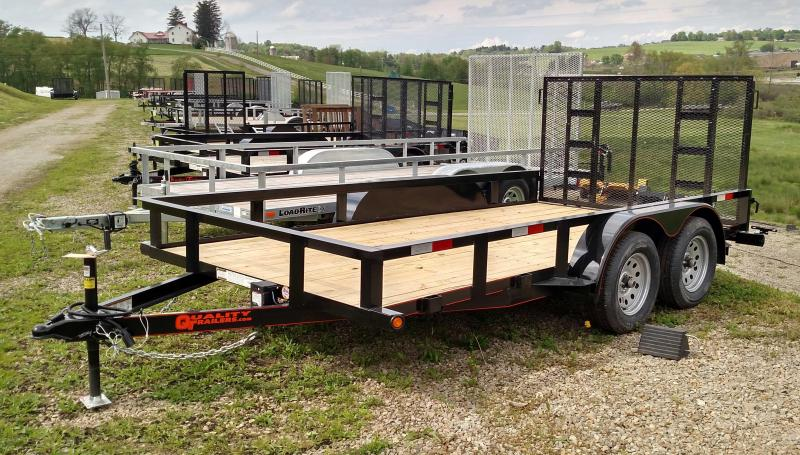 NEW 2018 Quality 6x14 Tandem General Duty Utility w/ Spring Assist Gate (NO DOVE)