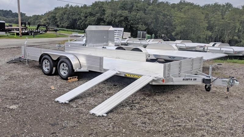 """NEW 2020 Aluma 6'9"""" x 20 SR Utility Trailer w/ Side Ramps / Rear Bi-Fold Gate"""