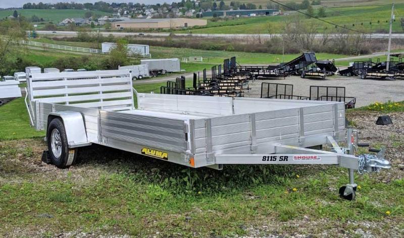 "NEW 2020 Aluma 6'9"" x 15' SR Utility w/ Side Ramps &  Bi-Fold Gate"