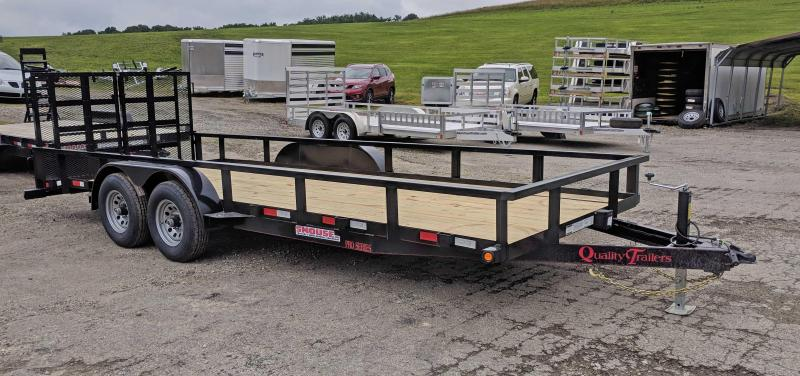 NEW 2019 Quality Trailers 7X20 HD PRO w/ HD Split Spring Assist Gate