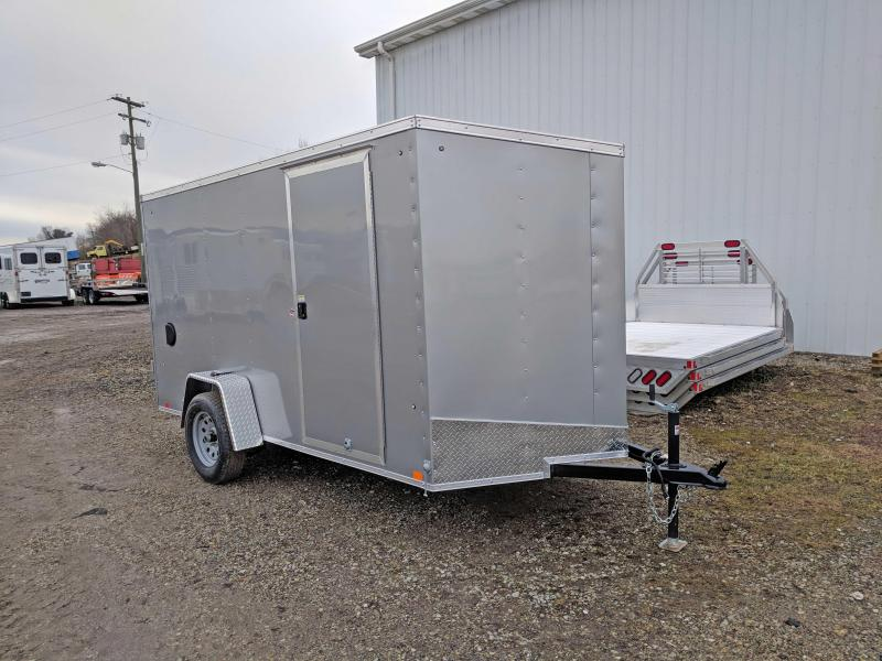 NEW 2018 Cargo Express 6X12 EX DLX Sloped V-Nose Trailer w/Barn Doors