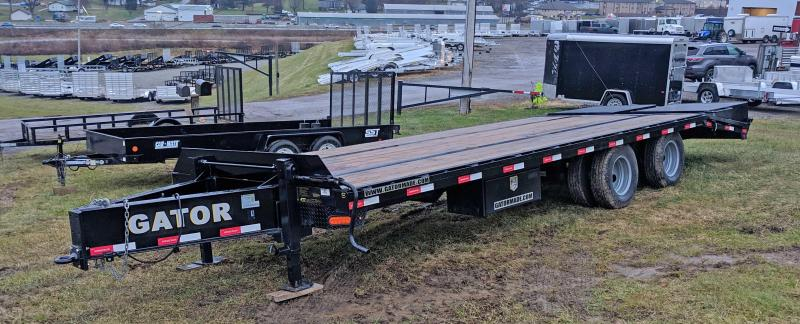 USED 2018 Gatormade 20+5 Dual Wheel Deckover Tagalong Equipment Trailer