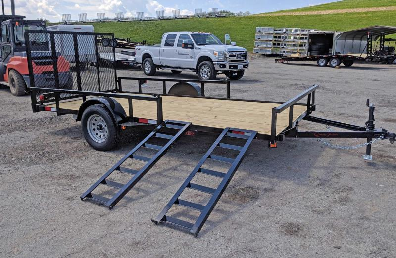 NEW 2018 Quality 7X14 PRO Utility Trailer w/ ATV Side Ramps &  Spring Assist / Lay Flat Gate