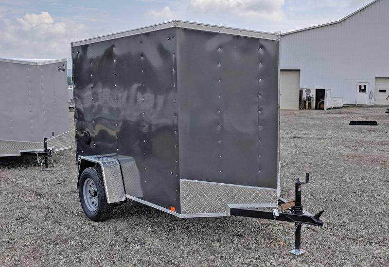NEW 2019 Cargo Express 5X8 EX DLX V-Nose Cargo Trailer w/ Ramp