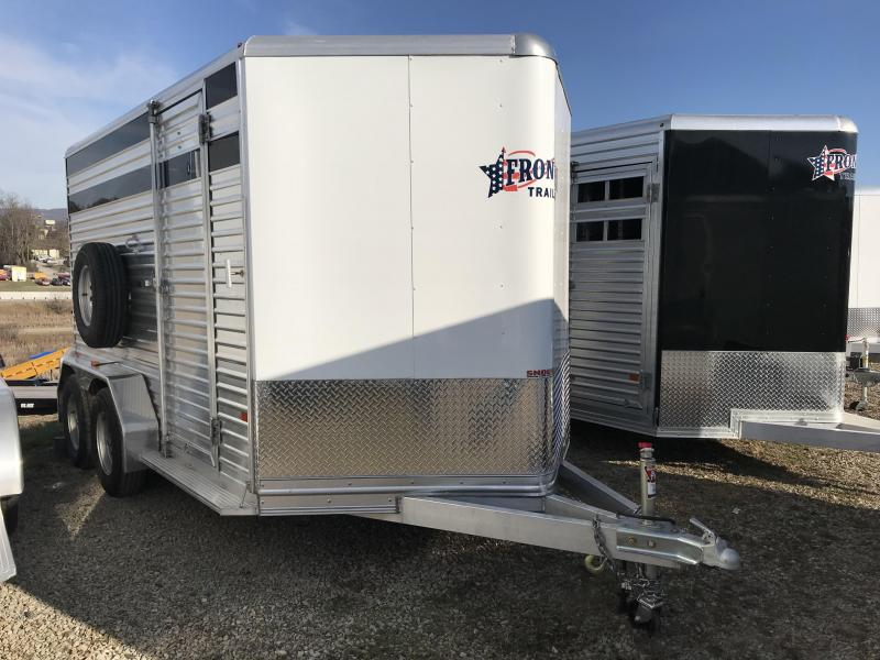 NEW 2018 Frontier 7x12 ALUMINUM Livestock/Horse Combo Trailer w/ small tack room