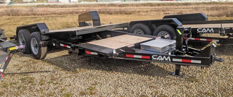 NEW 2019 CAM 21' HD (4+17) XW Lo Pro Split Tilt Equipment  Trailer