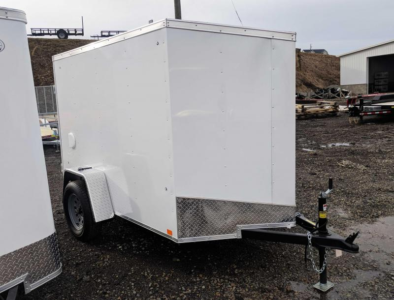 NEW 2020 Cargo Express 5x8 EX DLX Sloped V-Nose Cargo Trailer w/ Rear Barn Door