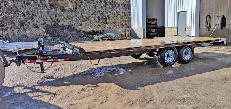 NEW 2019 Quality 20' General Duty Deckover Tagalong Equipment Trailer (NO RAMPS OR DOVETAIL!)