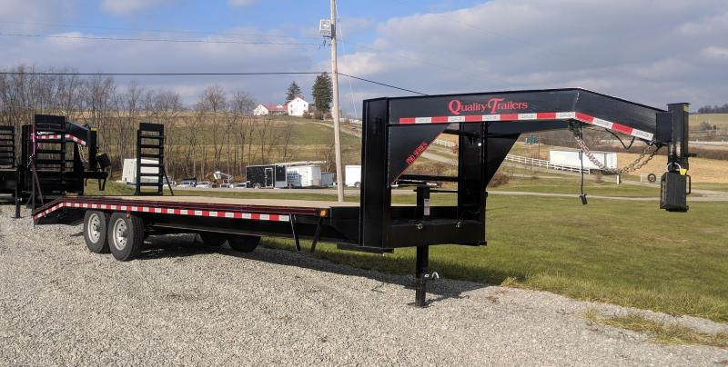 NEW 2020 Quality 24+4 HD PRO Deckover Gooseneck Trailer w/ Pop Up Dovetail