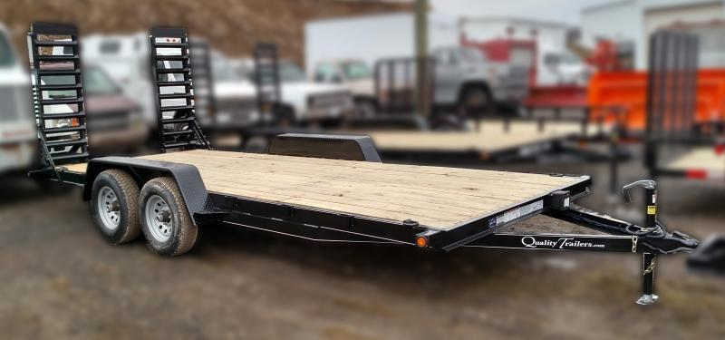 NEW 2018 Quality 18' Econo Equipment Hauler w/Stand-Up Ramps (NO DOVE)